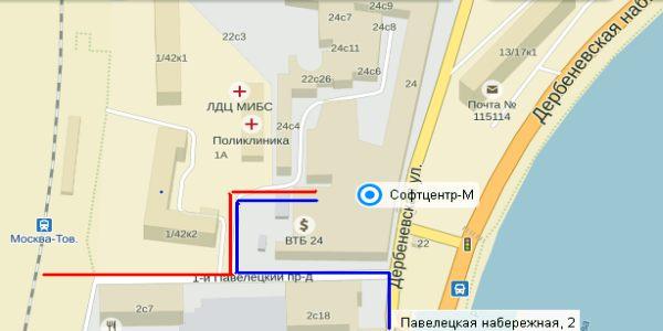 Схема проезда в главный офис   Схема проезда в главный офис   https://softcenter-m.ru/images/sxemaproezda.jpg